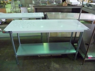 "9112 stainless steel work table 60"" x 24"""