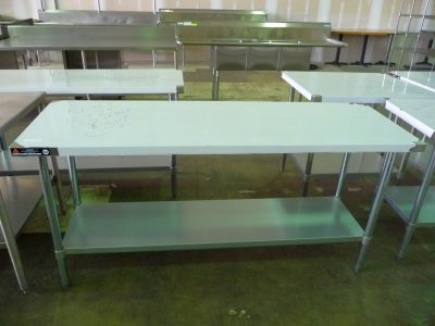 "4075 stainless steel work table 72"" x 24"""