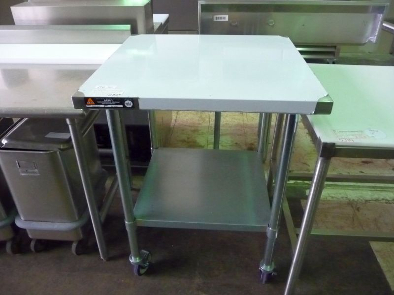 9117 stainless steel work table 36″ x 30″