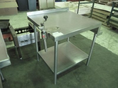 "5653 stainless steel work table 30"" x 33.5"""