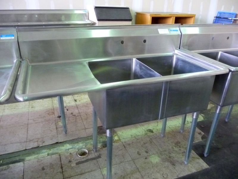 9228 double compartment stainless steel sink
