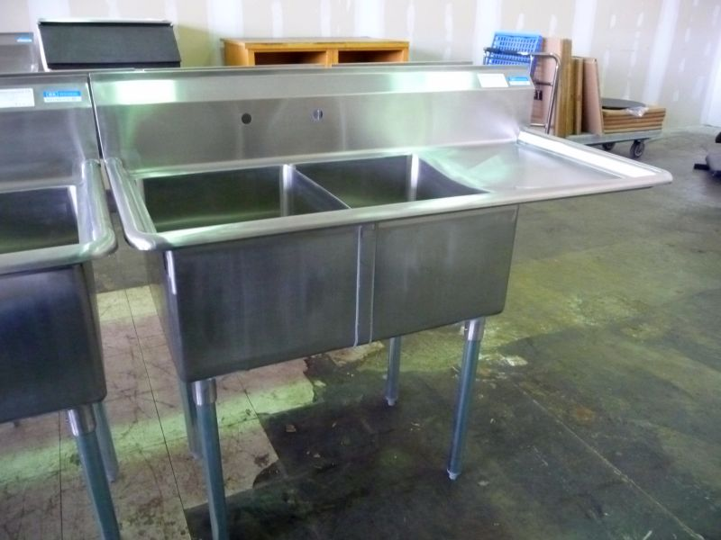 9229 double compartment stainless steel sink