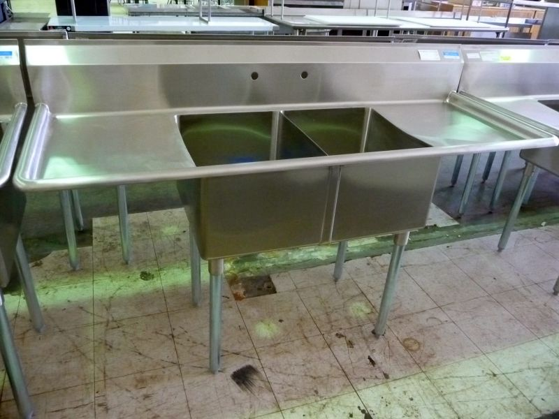 9230 double compartment stainless steel sink
