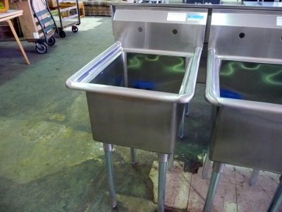 9240 single compartment stainless steel sink