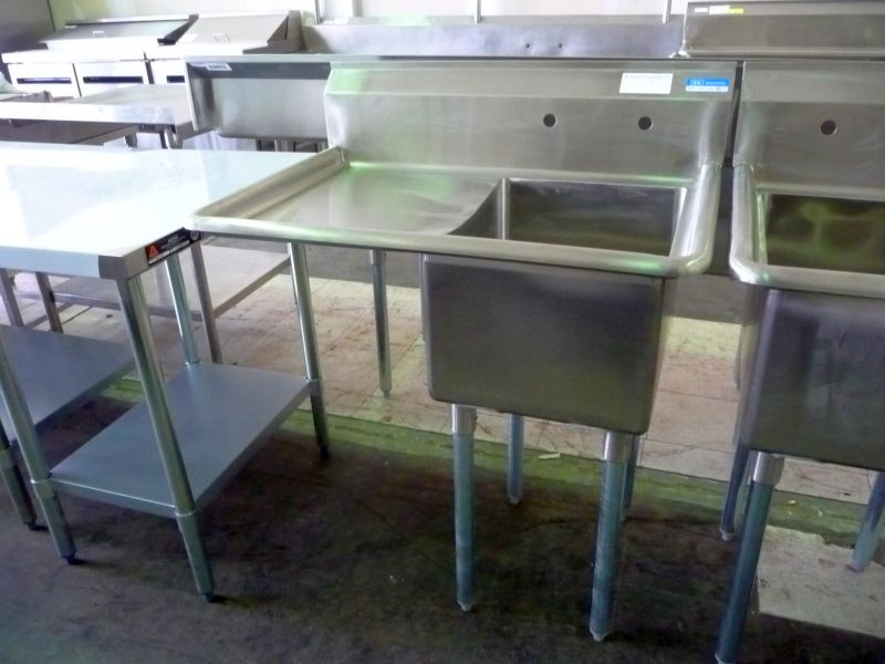 9241 single compartment stainless steel sink