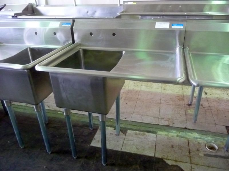 9242 single compartment stainless steel sink