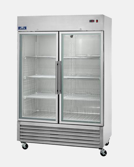 2 glass door cooler
