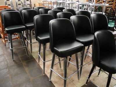 Bar Stool Bucket Style Swivel Seat Standard Size The